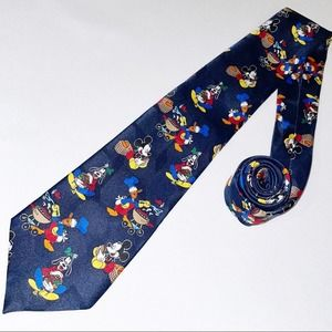 Vintage Disney Minnie Mouse Picnic Print Neck Tie